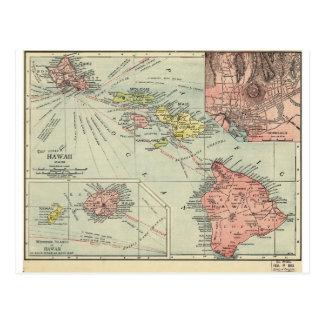Map of Hawaii – Rand McNally (1912) Postcard