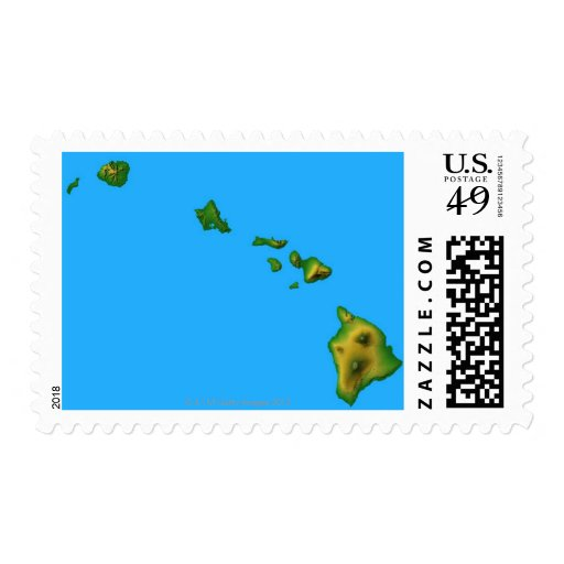 Map of Hawaii Stamps