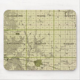 Map of Henry County, State of Iowa Mouse Pad