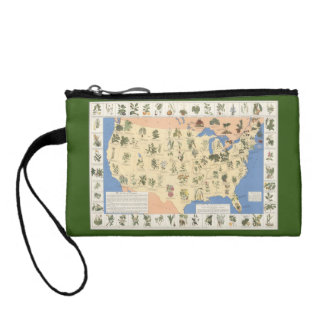 Map of Herbal Remedies key coin clutch