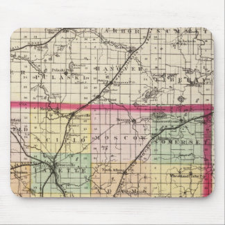 Map of Hillsdale County, Michigan Mouse Pad