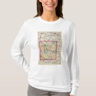 Map of Hillsdale County, Michigan T-Shirt