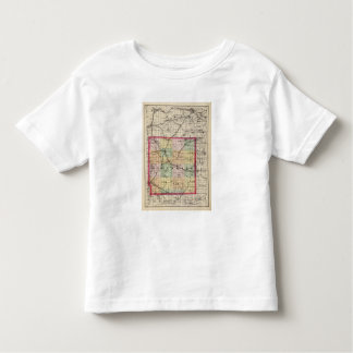 Map of Hillsdale County, Michigan Toddler T-shirt