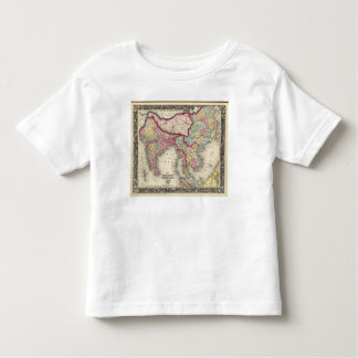 Map Of Hindoostan, Farther India, China, and Tibet T-shirts