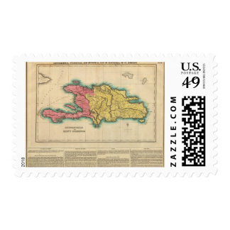 Map Of Hispaniola, Or St Domingo Postage Stamp