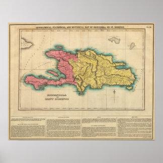 Map Of Hispaniola, Or St Domingo Poster
