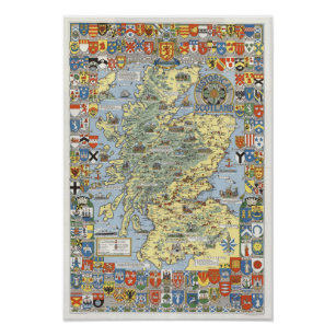 Map of Historical Scotland Poster