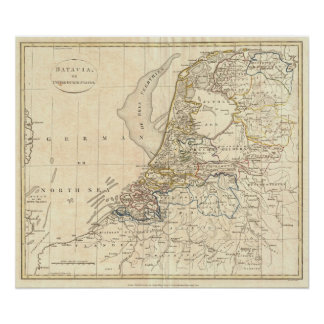 Map of Holland 1799 - by Clement Cruttwell Poster