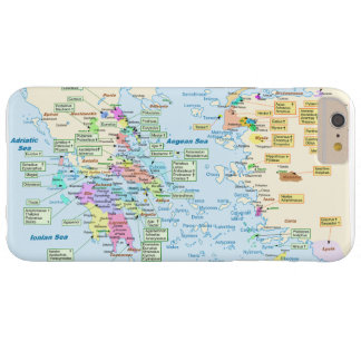Map of Homeric Era Greece with English labels Barely There iPhone 6 Plus Case
