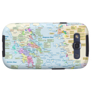 Map of Homeric Era Greece with English labels Galaxy SIII Cover