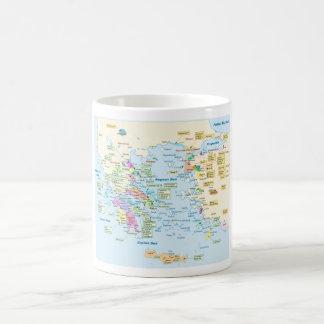 Map of Homeric Era Greece with English labels Coffee Mug