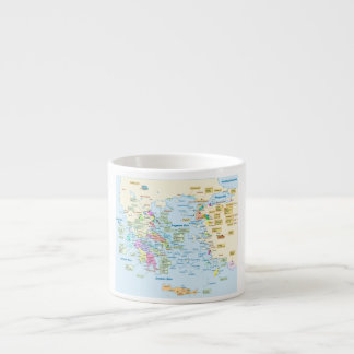 Map of Homeric Era Greece with English labels Espresso Cup