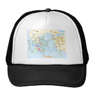 Map of Homeric Era Greece with English labels Trucker Hat