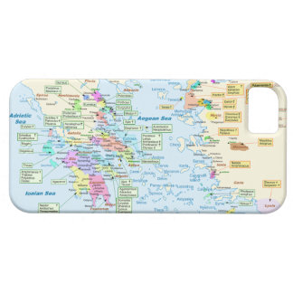 Map of Homeric Era Greece with English labels iPhone SE/5/5s Case
