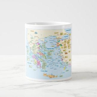 Map of Homeric Era Greece with English labels Large Coffee Mug