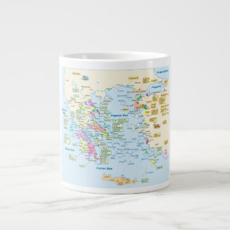 Map of Homeric Era Greece with English labels Extra Large Mugs