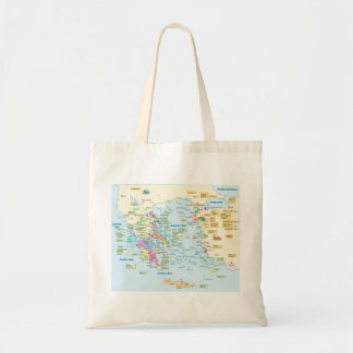 Map of Homeric Era Greece with English labels Tote Bag