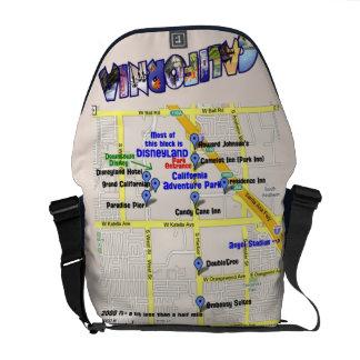 Map of Hotels around Disneyland Messenger Bag