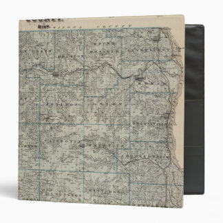 Map of Houston County, Minnesota 3 Ring Binder