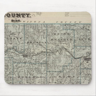 Map of Houston County, Minnesota Mouse Pad