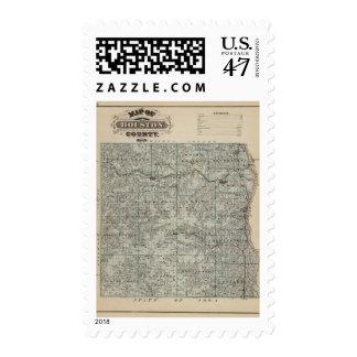 Map of Houston County, Minnesota Postage
