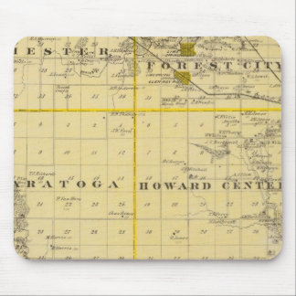 Map of Howard County, State of Iowa Mouse Pad