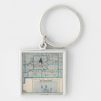 Map of Howard County with Russiaville Keychain