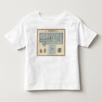 Map of Howard County with Russiaville Toddler T-shirt