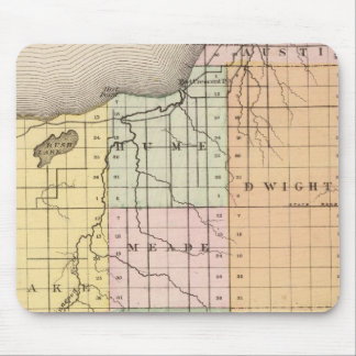 Map of Huron County, Michigan Mouse Pad