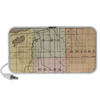 Map of Huron County, Michigan Notebook Speakers
