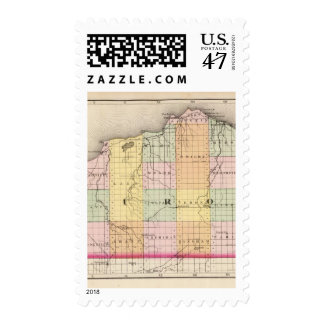 Map of Huron County, Michigan Postage