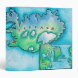 Map of Iceland 3 Ring Binder