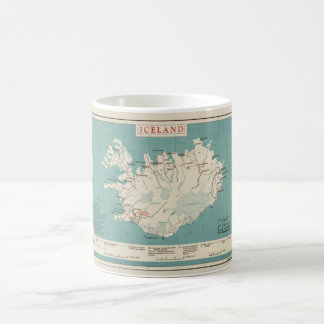 Map of Iceland (circa 1959) Coffee Mug