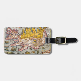Map of Iceland Luggage Tag