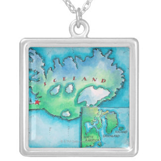 Map of Iceland Pendant