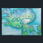"""Map of Iceland Placemat<br><div class=""""desc"""">Map of Iceland</div>"""