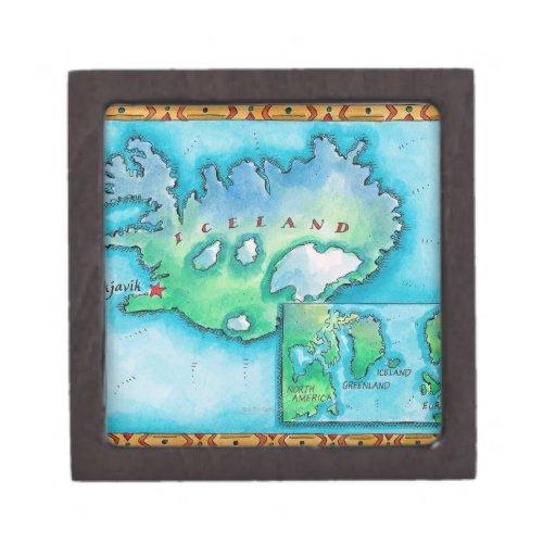 Map of Iceland Premium Gift Box
