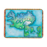 Map of Iceland Rectangular Magnet