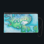 "Map of Iceland Wristlet Purse<br><div class=""desc"">Map of Iceland</div>"