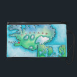 "Map of Iceland Wristlet Purse<br><div class=""desc"">Map of Iceland</div>"