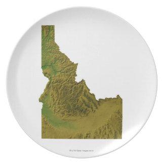 Map of Idaho 2 Dinner Plate