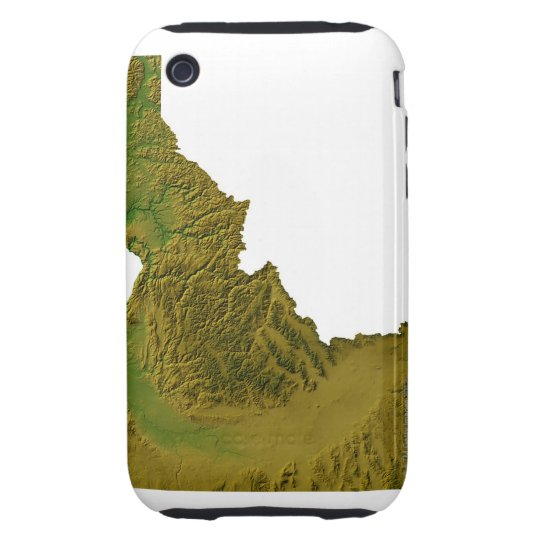 Map of Idaho 2 iPhone 3 Tough Cover