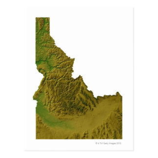 Map of Idaho 2 Postcard