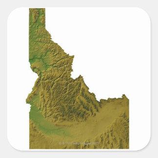 Map of Idaho 2 Square Sticker