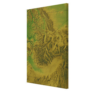 Map of Idaho Canvas Print