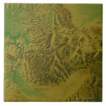 Map of Idaho Ceramic Tile