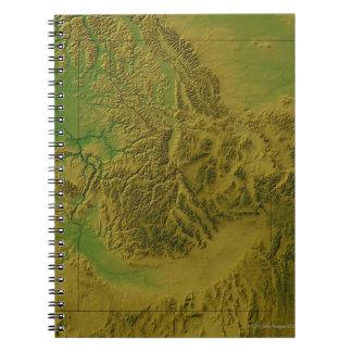 Map of Idaho Spiral Notebook