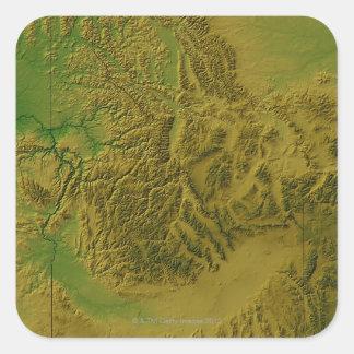 Map of Idaho Square Sticker