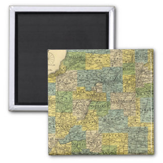 Map of Illinois 2 2 Inch Square Magnet