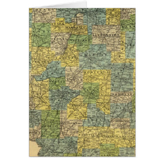 Map of Illinois 2 Card